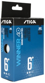 Stiga Winner 40+ Table Tennis Balls 6pcs White