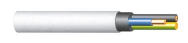 KABELIS KH05VV-U 3X2,5 BALTS(50)
