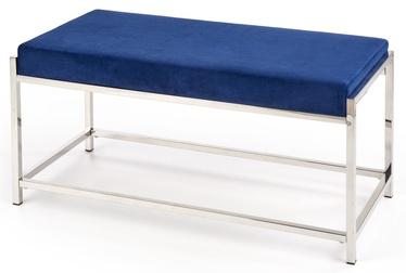 Pufs Halmar Mokka Dark Blue/Silver, 97x44x46 cm