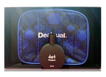 Komplekts vīriešiem Desigual Dark 100 ml EDT + Blue Cosmetic Bag