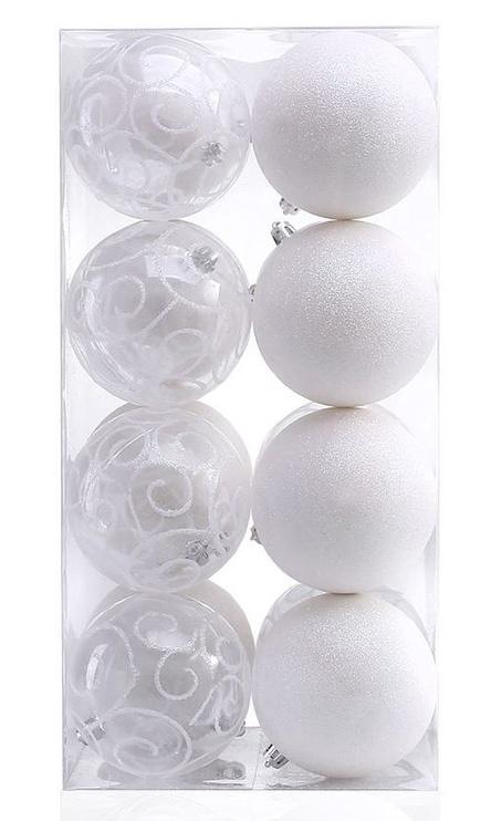 Ziemassvētku eglītes rotaļlieta DecoKing Jane White, 16 gab.