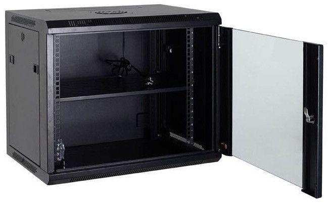 Netrack Netrack Wall Cabinet 19'' 12U/600mm Glass Black