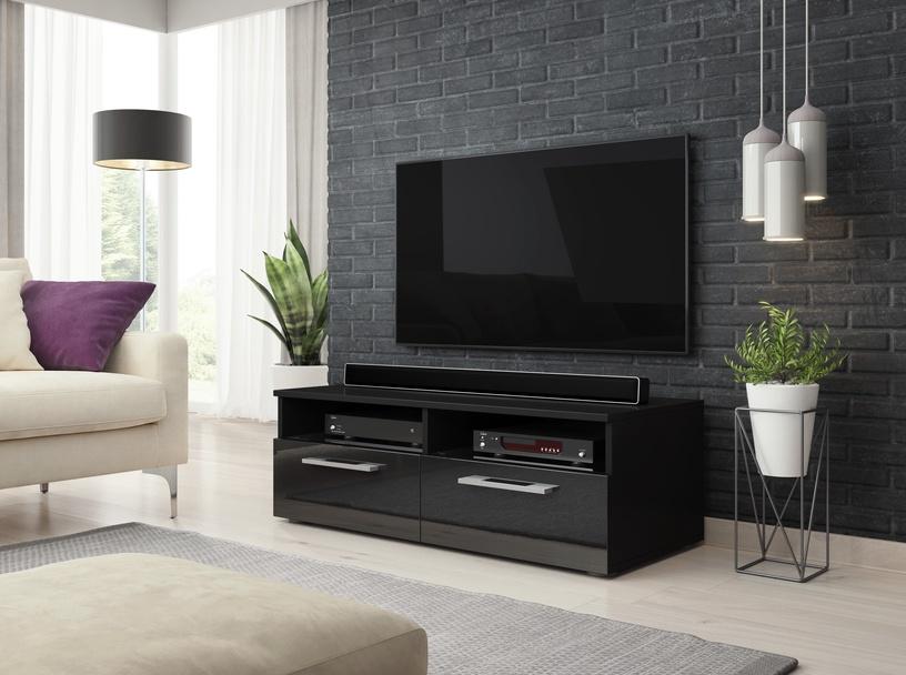 ТВ стол Vivaldi Meble Bonn, черный, 1000x460x350 мм