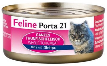 Влажный корм для кошек Feline Porta 21 Tuna & Shrimps, 0.09 кг