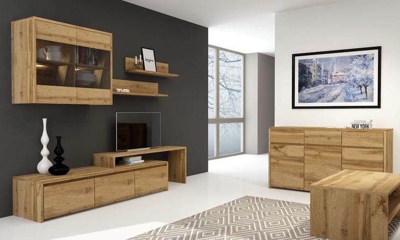 ТВ стол WIPMEB Tahoe TA-04, коричневый, 1300x370x480 мм