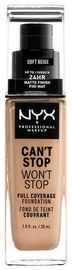 Tonizējošais krēms NYX Can't Stop Won't Stop CSWSF7.5 Soft Beige, 30 ml