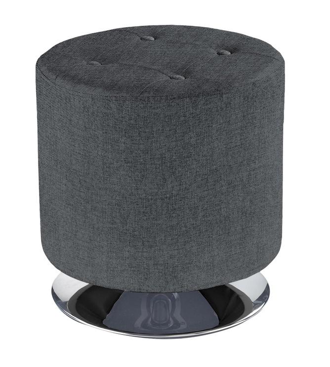 Pufs Halmar Dora 2 Dark Grey, 42x42x42 cm