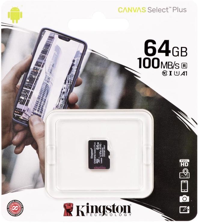 Kingston Canvas Select Plus 64GB microSDXC UHS-I Class 10