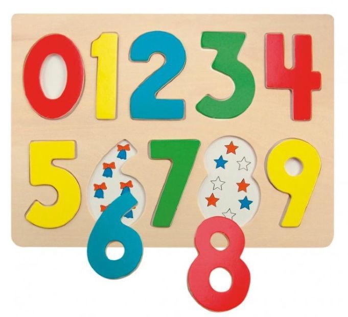 Koka puzle Woodyland Numbers 90325, 10 gab.