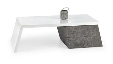 Kafijas galdiņš Halmar Sedia White/Concrete, 1200x600x400 mm