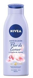 Ķermeņa losjons Nivea Oil In Lotion Cherry Blossom And Jojoba Oil, 400 ml