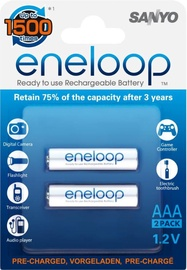 Sanyo Eneloop Rechargeable Battery 2x AAA 800mAh