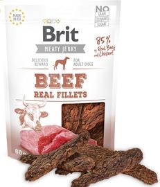 Gardums suņiem Brit Jerky Beef Fillets Snack 80g