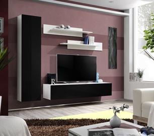 Dzīvojamās istabas mēbeļu komplekts ASM Fly G White/Black Gloss