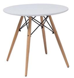 Kafijas galdiņš Signal Meble Soho White, 900x900x750 mm