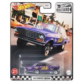 Bērnu rotaļu mašīnīte Hot Wheels Boulevard '63 Chevy Nova, violeta