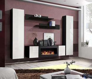 Dzīvojamās istabas mēbeļu komplekts ASM Fly M1 White/Black