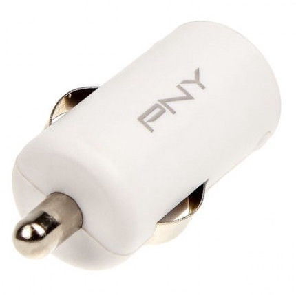 PNY USB Fast Car Charger White 12V 2.4A