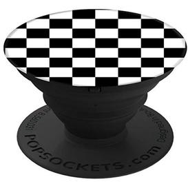 Popsocket Collapsible Smartphone Finger Grip Holder Checker Black