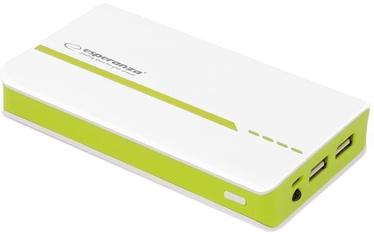 Зарядное устройство - аккумулятор Esperanza Atom, 11000 мАч, белый/зеленый
