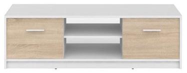 ТВ стол Black Red White Nepo Plus, белый/дубовый, 1385x465x425 мм