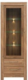 Black Red White Gent Glass Door Cabinet 68x200x42cm Stirling Oak