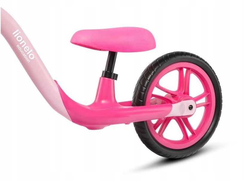 Балансирующий велосипед Lionelo Alex 57596, розовый, 12″