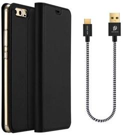 Dux Ducis Premium Magnet Case With Type-C Cable For Huawei P10 Lite Black