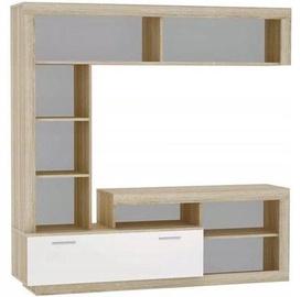 Sekcija Tuckano Warsaw Sonoma Oak/White, 170x41x170 cm