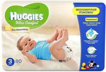 Подгузники Huggies Ultra Comfort Boy MP3 80