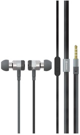 Наушники Swissten SuperBass YS900 in-ear, серебристый