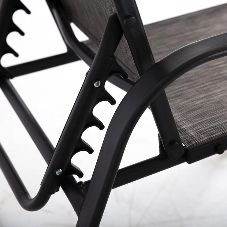 Комплект уличной мебели Home4you Dakota 19373, черный/серый, 2 места (поврежденная упаковка)