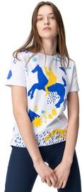 Audimas Womens Short Sleeve Tee White Blue Printed M