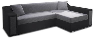 Stūra dīvāns Idzczak Meble Milton Mini Bahama 34/36 Gray, 282 x 160 x 77 cm