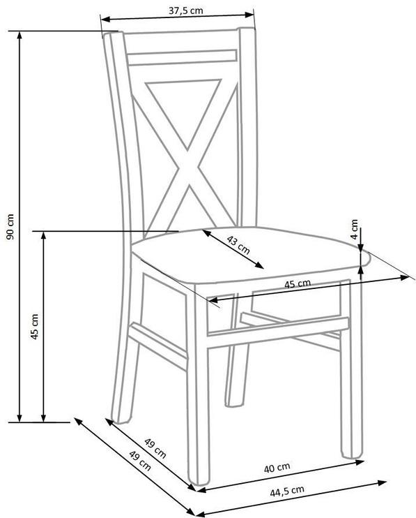 Ēdamistabas krēsls Halmar Dariusz 2 Sonoma Oak, 1 gab.