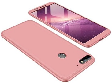 GKK 360 Protection Case For Huawei Y7 Prime 2018 Pink