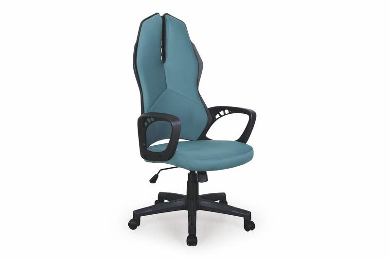 Biroja krēsls Halmar Cougar Black/Turquoise