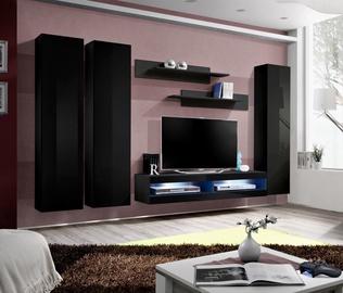 ASM Fly P6 Living Room Wall Unit Set Black