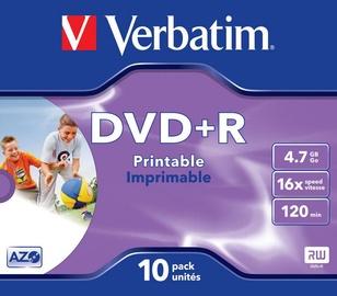 Verbatim DVD+R 4.7GB 16x Printable ID Brand 10pcs