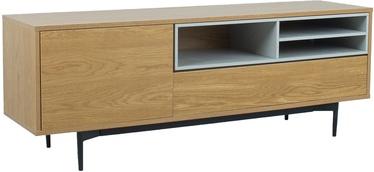 ТВ стол Home4you Delano, серый/дубовый, 1520x415x550 мм
