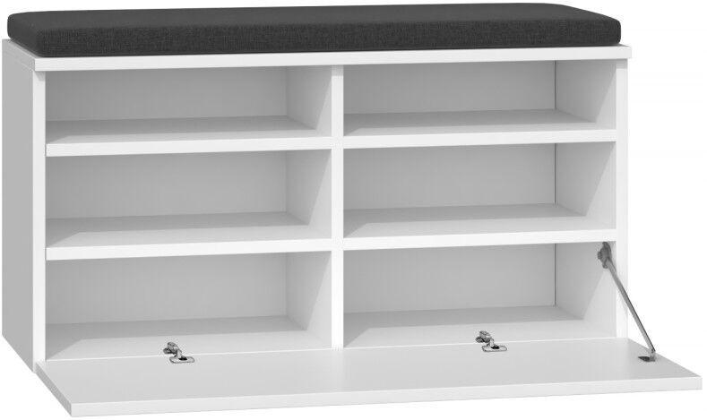 Apavu plaukts Top E Shop Riva, balta, 850x350x460 mm