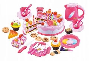 Virtuves piederumu komplekts EcoToys Cake For Chopping Birthday, 80 gab.