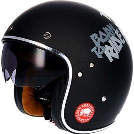 Shiro Helmet SH-235 Kukuskull Matt Black S