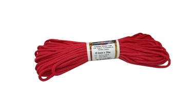 Duguva Synthetic Fibre Rope D4mm 20m Red