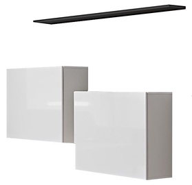 ASM Switch SB I Hanging Cabinet/Shelf Set White/Graphite Matt