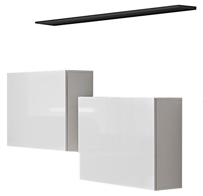 ASM Switch SB I Hanging Cabinet/Shelf Set White/Graphite Matt
