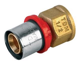 """Pašpresējošs adapteris, izmērs 20x½"""", TDM Brass"""