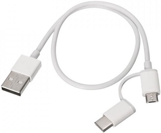Xiaomi Mi 2in1 USB To Micro USB/USB Type-C Cable 30cm White