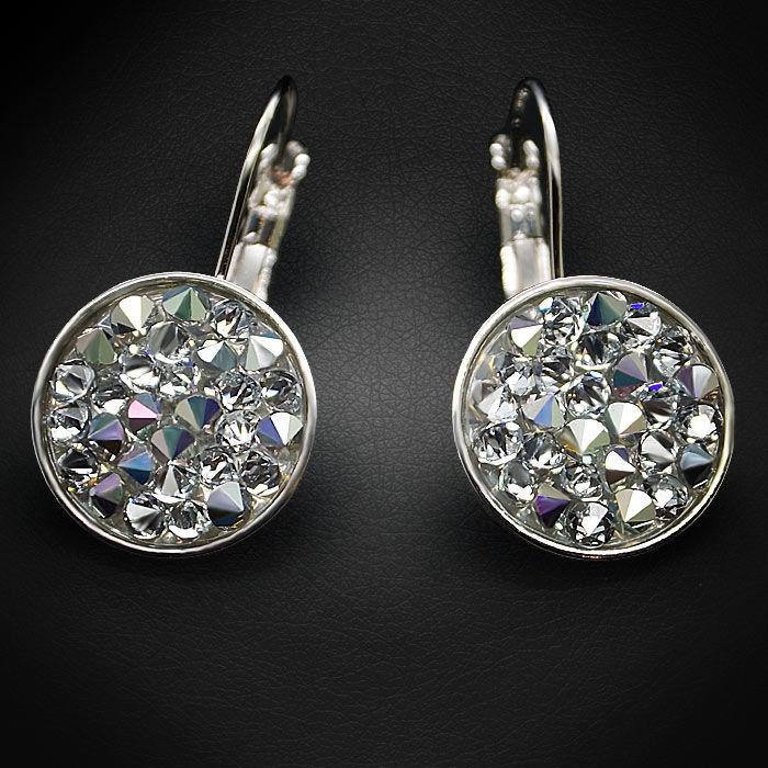 Diamond Sky Earrings With Crystals From Swarowski Crystal Mosaic II Crystal CAL