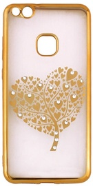 Beeyo Glamour Series Hearts Tree Back Case For Apple iPhone X Gold